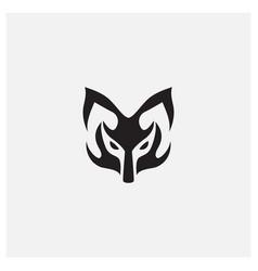 Mask ornament animal wild logo design vector