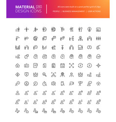 material design people icons set vector image