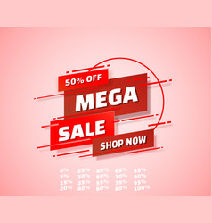 mega sale off shop new banner set collection vector image