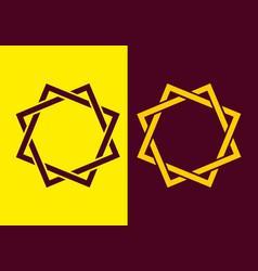 merger double square shape vector image