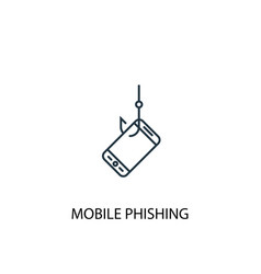 mobile phishing concept line icon simple element vector image