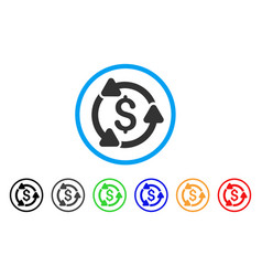 Money circulation rounded icon vector