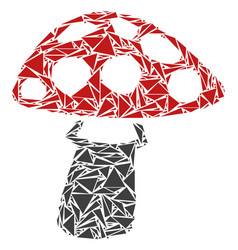 Mushroom collage of triangles vector