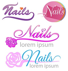 nails saloon symbol set vector image