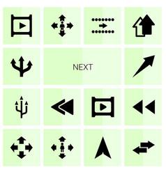 Next icons vector