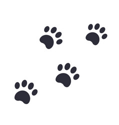 Paw footprints vector