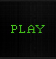 play pixel text message pixel art font vector image
