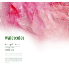 red abstract watercolor background vector image