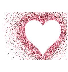 red glitter heart valentine background vector image
