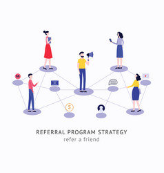 Refer a friend strategy concept people vector
