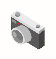 retro isometric camera on white background vector image