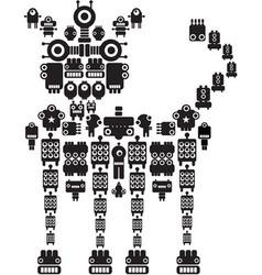 Robot dog vector