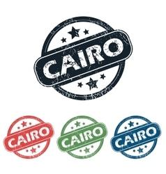 Round Cairo city stamp set vector