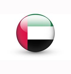 round icon with flag united arab emirates vector image