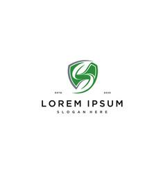 S leaf logo design concept vector