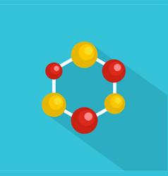 science lattice icon flat style vector image