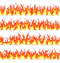 seamless fire flame dangerous flaming pattern vector image