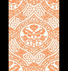 Seamless floral antique pattern beige vector