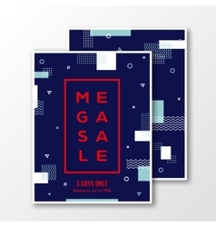 Season Mega Sale Poster Card or Flyer Template vector image