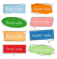 set of eight sale bannes vector image