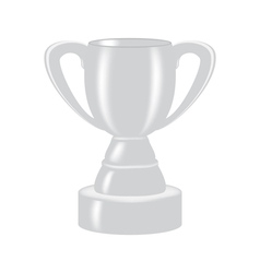 silver cup for the second place vector image
