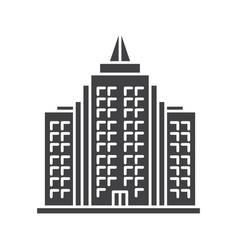 Skyscraper glyph icon vector