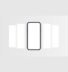 Smartphone frame mockup with blank app screens vector