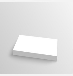 Stack clean business cards vector