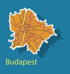 Sticker scheme of the budapest hungary city plan vector