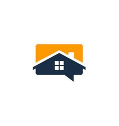 talk house logo icon design vector image