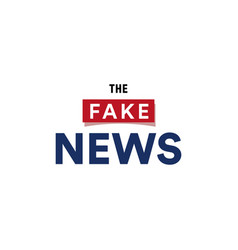 The fake news show false breaking news broadcast vector