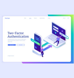 Two-factor authentication with password and sms vector