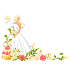 wedding beautiful bride vector image