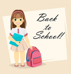 welcome back to school greeting card vector image