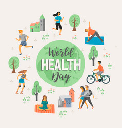 World health day healthy lifestyle vector