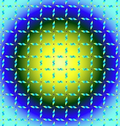 Yellow-blue interpretation of clover vector image