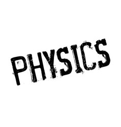 Physics rubber stamp vector