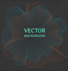 technology background with sound waves vector image