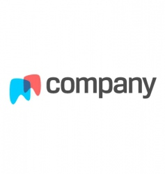 teeth logo for dental company vector image vector image