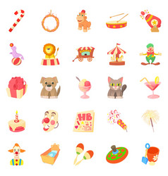 bairn icons set cartoon style vector image vector image