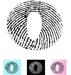 Fingerprint Alphabet Letter O vector image vector image