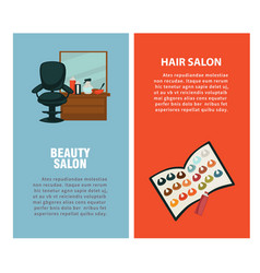 hairdresser beauty hair salon poster for vector image