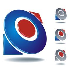 logo arrow two vector image vector image