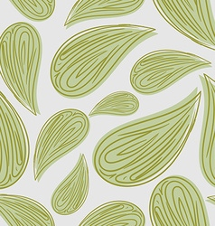 Abstract seamless pattern green leaves background vector image