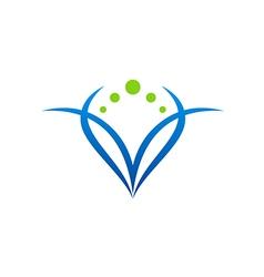 beauty abstract woman symbol logo vector image vector image