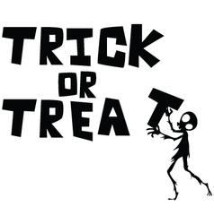 halloween trick or treat vector image
