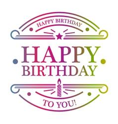 Happy Birthday Emblem vector image