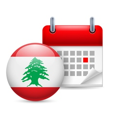 Icon of National Day in Lebanon vector image vector image