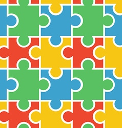 Puzzle seamless background vector image vector image