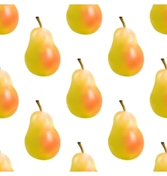 yellow pear seamless vector image